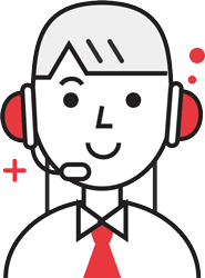 enterprise IT help desk service icon