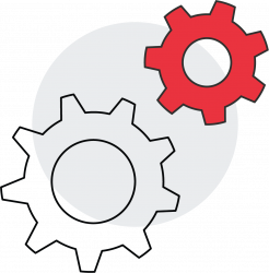 IT Help Desk Maintaining Infrastructure Icon